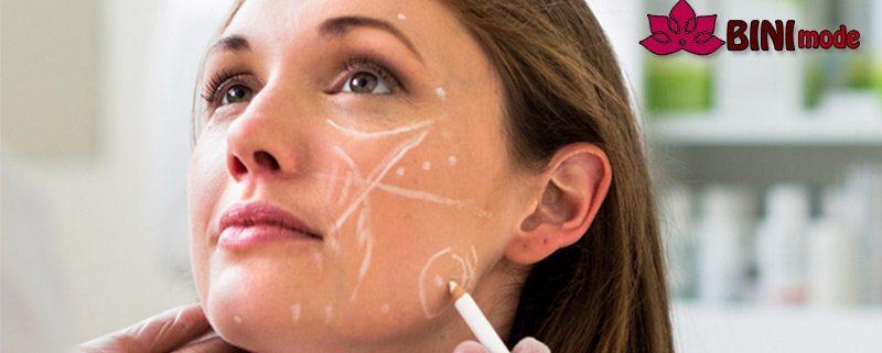 نواحی مناسب صورت برای تزریق ژل